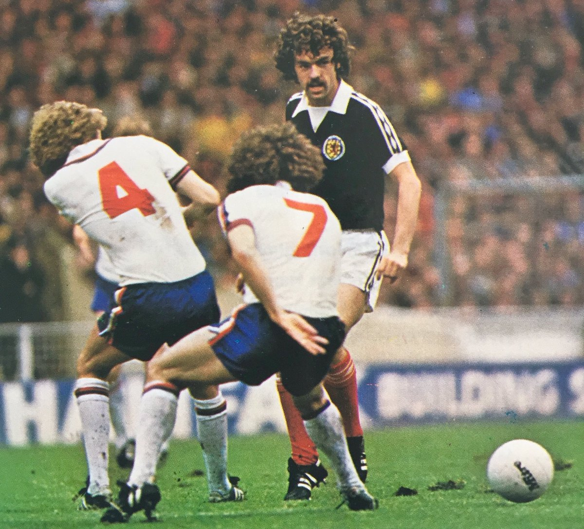 Perm any 2 from 3 Phil Thompson & Kevin Keegan v John Wark - England v Scotland OTD 26/5/79 #ENG #SCO #LFC #ITFC #HSV