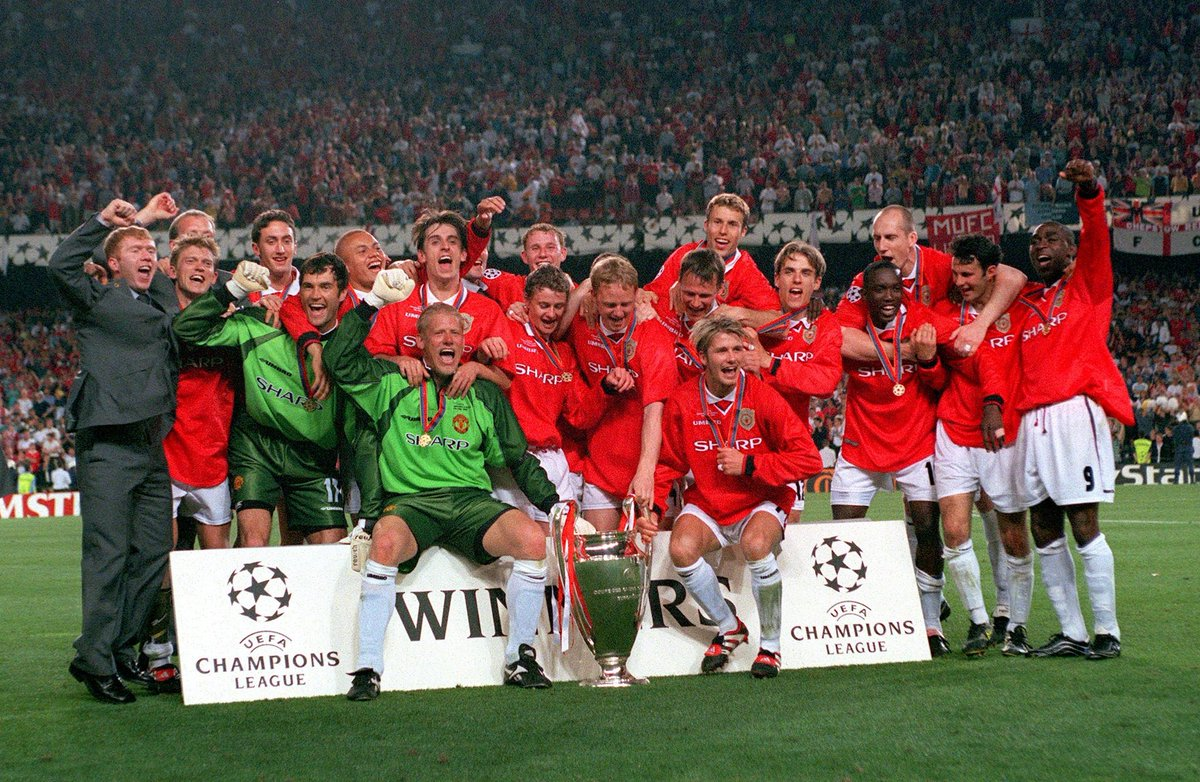 On this day 21 years ago we achieved something that no other english team has ever done and will ever do.good times.#Treble99 https://t.co/jEJjJDGzJv