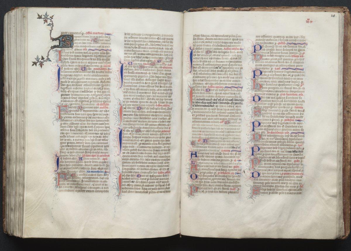 The Gotha Missal: Fol. 140v, Text, Master of the Boqueteaux, c. 1375  #MedievalArt #clevelandart