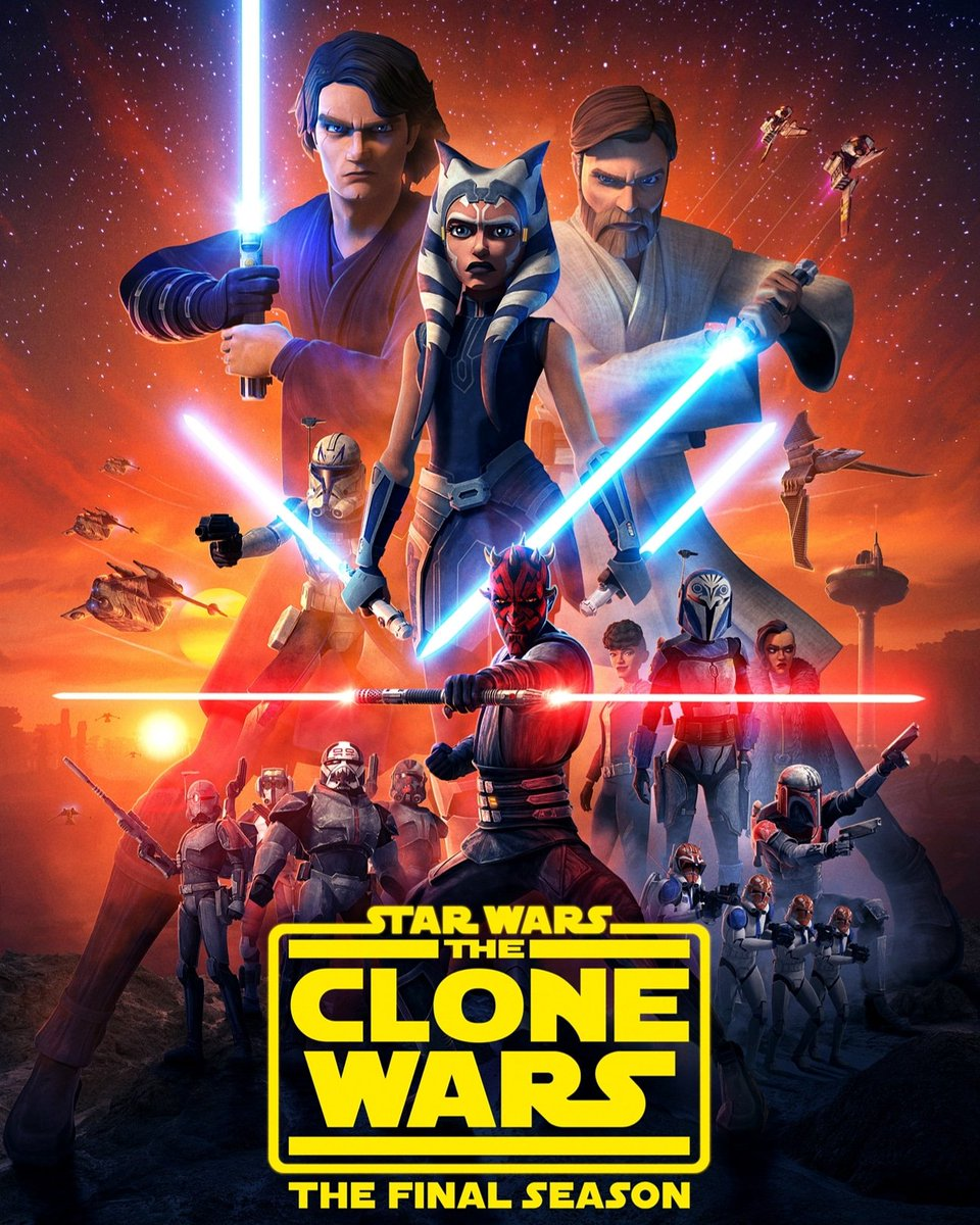 Starting #CloneWars the final season on @DisneyPlusUK <br>http://pic.twitter.com/b8JwSvDJYc