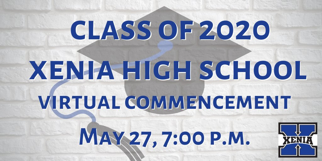 🎓 Youre invited! 🎓 We are proud to help honor @XeniaSchools #ClassOf2020. A virtual commencement ceremony will be held on the high schools YouTube page. We will also broadcast it on Channel 5, the local access channel. Heres the link to watch online: youtu.be/Lap7PvAS-jY