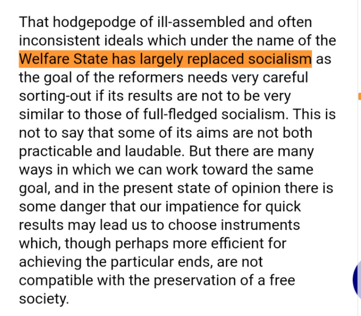 @lindsey_brink @ModeledBehavior @karlbykarlsmith @IrvingSwisher Hayek also said that the welfare state was the new socialism and to also be on guard for it leading down the road to serfdom in his 1956 preface as well, which was his formal introduction of the book to American audiences.