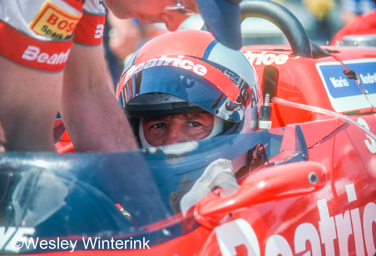 Mario Andretti getting strapped into his car during practice for the 1985 Indianapolis 500. @MarioAndretti  #Indy500 #IndyCar https://t.co/egEgiOATQj