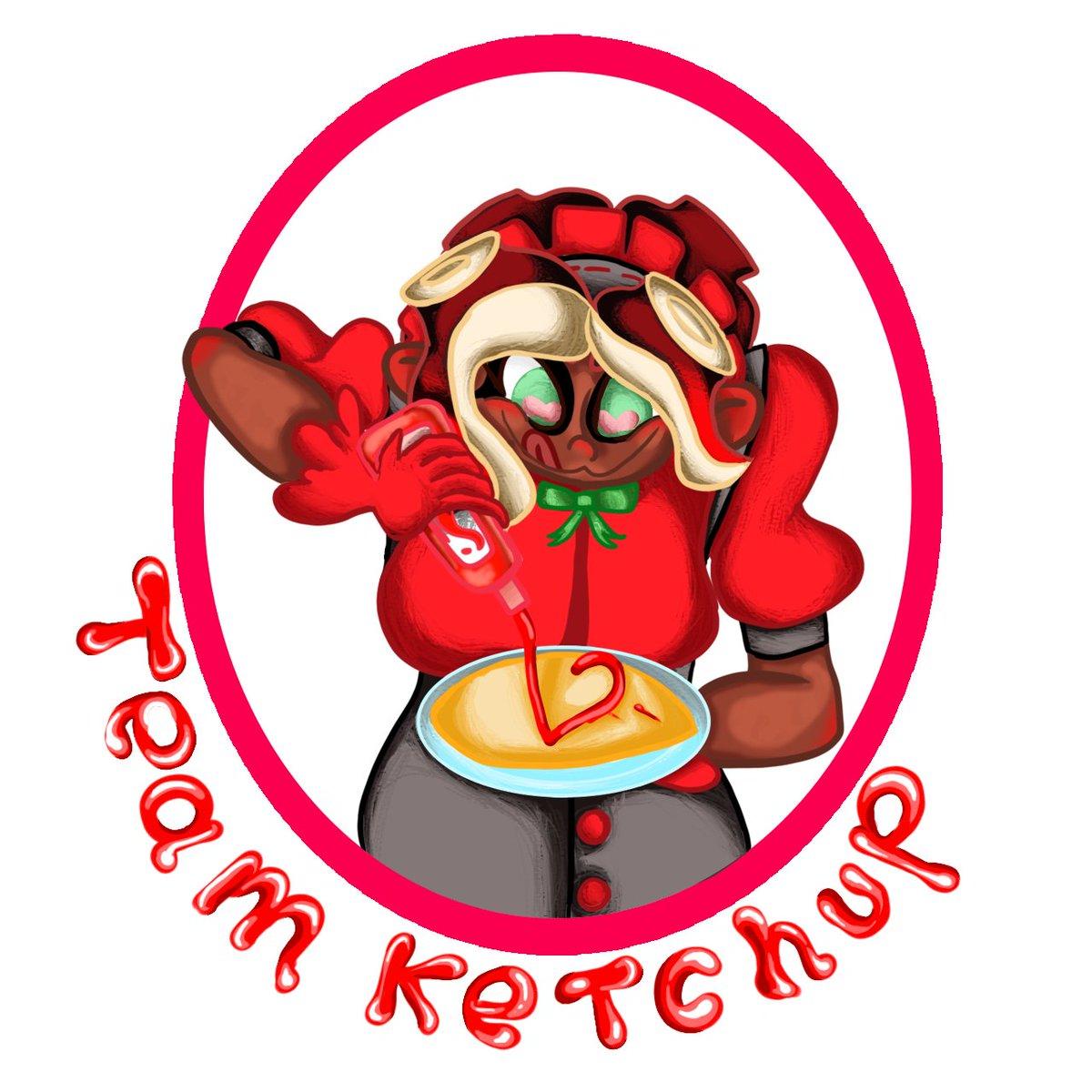 Okay, They're both done. One for each team. #TeamKetchup #TeamMayo #Splatfest #splatfest2020 #fanart #Splatoon2 #pearlandmarina