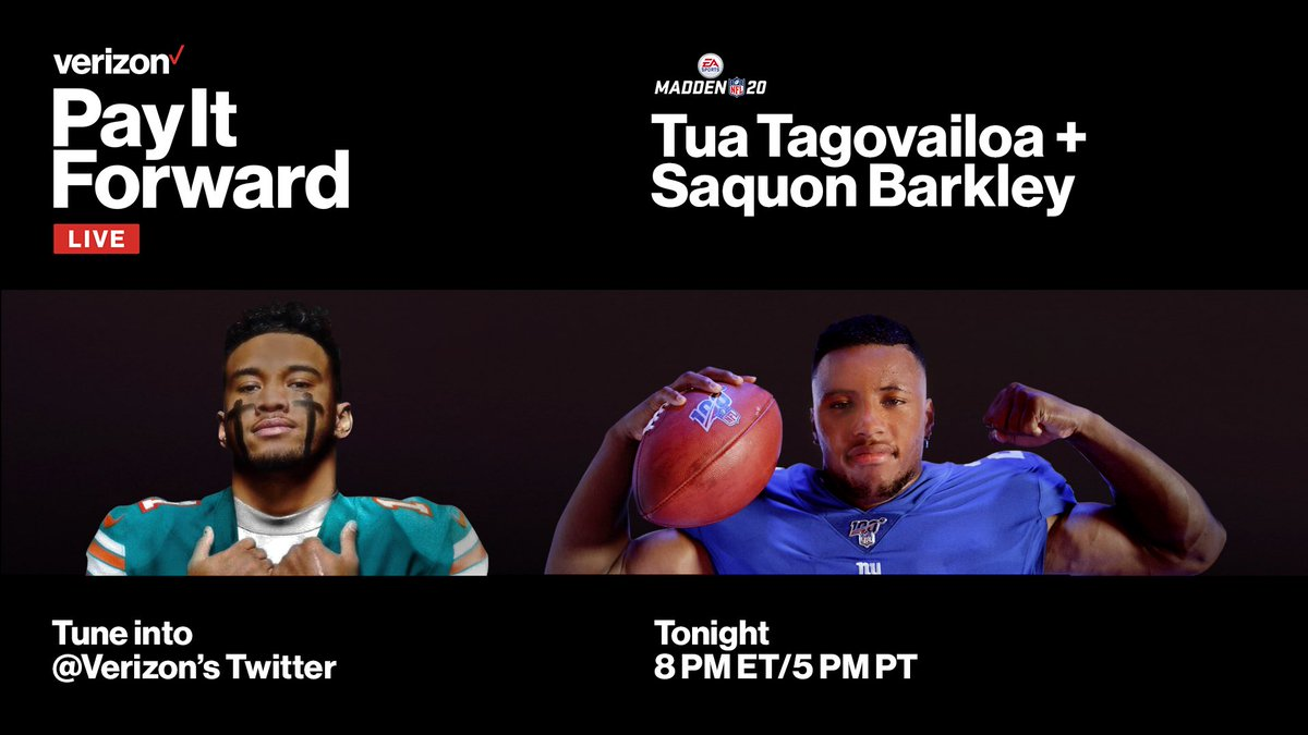 Watching tonight's #PayItForwardLive with NFL players @saquon and @Tua? You can send money to support a small business or individual directly if you know their PayPal or @Venmo handle.
