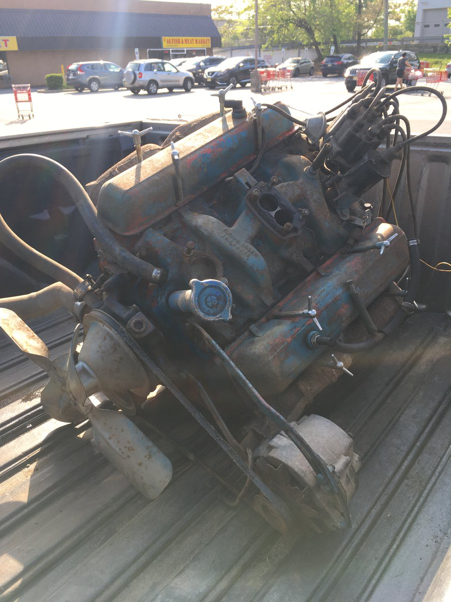 And so it begins... this old 59' 283 will soon make its way under the hood of my Chevy 3600 truck. Only after a total rebuild, right down to the block. Operation Crusty engine is a go! #Chevy #Chevrolet pic.twitter.com/qDpUxnrgxu