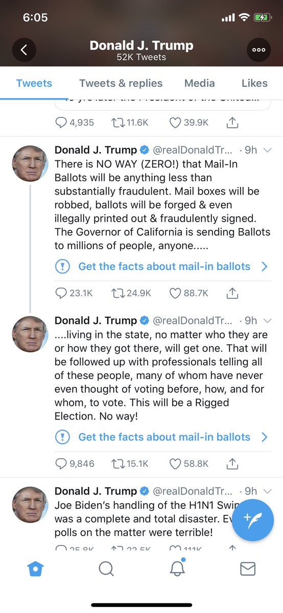 Twitter slaps a fact-check on Trump's tweets about mail-in ballots