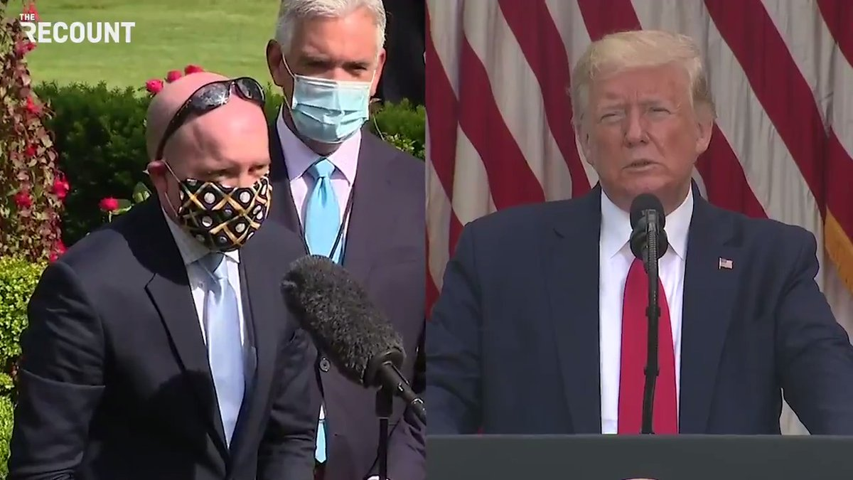 Trump says he wasnt criticizing Biden for wearing a mask then immediately criticizes the masked reporter who asked the question.