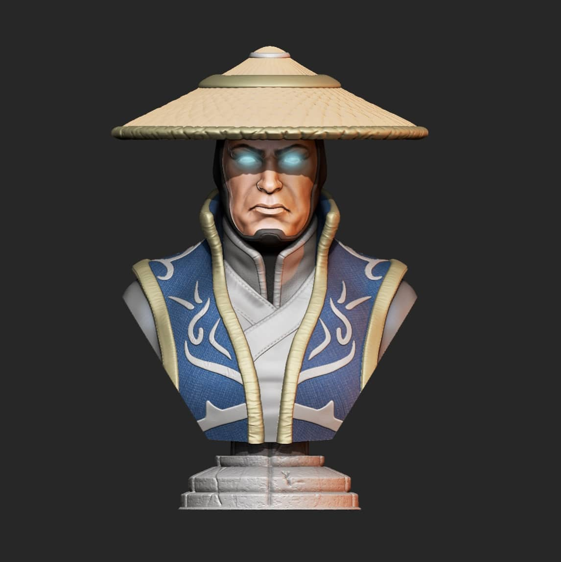 My Raiden is out :)  Printed on @Prusa3D mk3s with @Fiberlogy_3D bronze and gold and SL1 with some @esun3dfilament resin leftovers :)  #MortalKombat11 #raiden #3dprinting #3dmodeling #zbrush #3dprinted #fanart