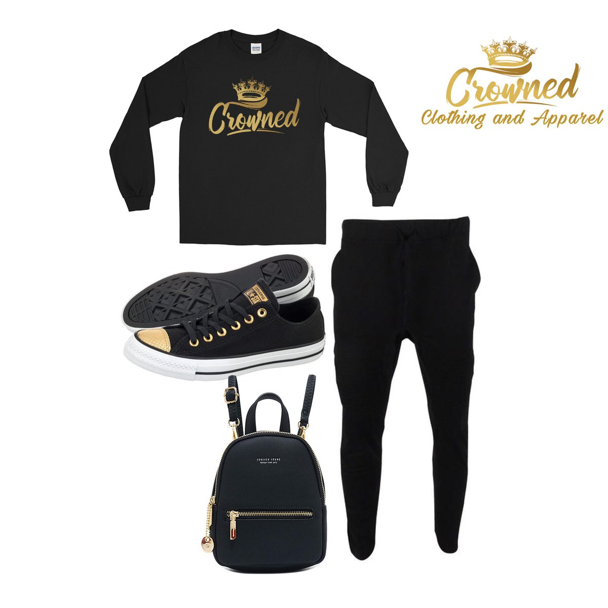 Crowned long sleeves and joggers are a great loungewear outfit for those chill days. . . . . . . #crowned #longsleeveshirt #longsleeve #joggerspants #joggerstyle #joggerspants #blackandgoldoutfit #blackandgold #outfitinspiration #loungewear #luxuryloungewear #loungewearlifestylepic.twitter.com/Z35RXR3V8l