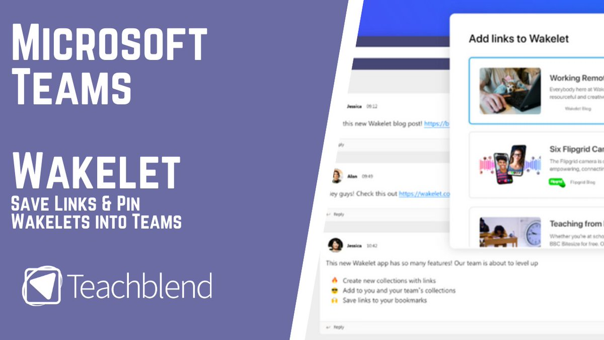 New! My @teachblend Full Teacher Guide to using @Wakelet in @MicrosoftTeams Learn how to use Microsoft Teams & Wakelet Together for #remoteteaching and #remotelearning #edtech Link - youtu.be/0vzvoXlTM6k
