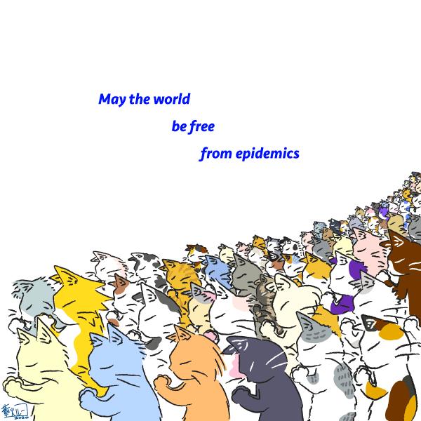 おはようございます。  May The World Be Free From Epidemics   #cats #Pray #art #illustration #drawing #GoodMorningWorld #together #Gradually #increase #COVID19 #64th  64匹目。 青い猫をかきました。 どこにいるでしょう? https://t.co/foWMS3uKih