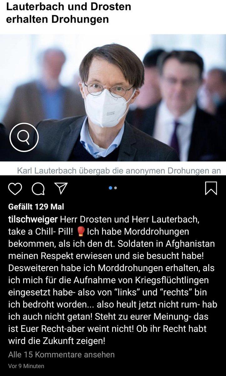In Zeiten Von Kairona On Twitter Chaotic Good Drosten Lauterbach Morddrohungen