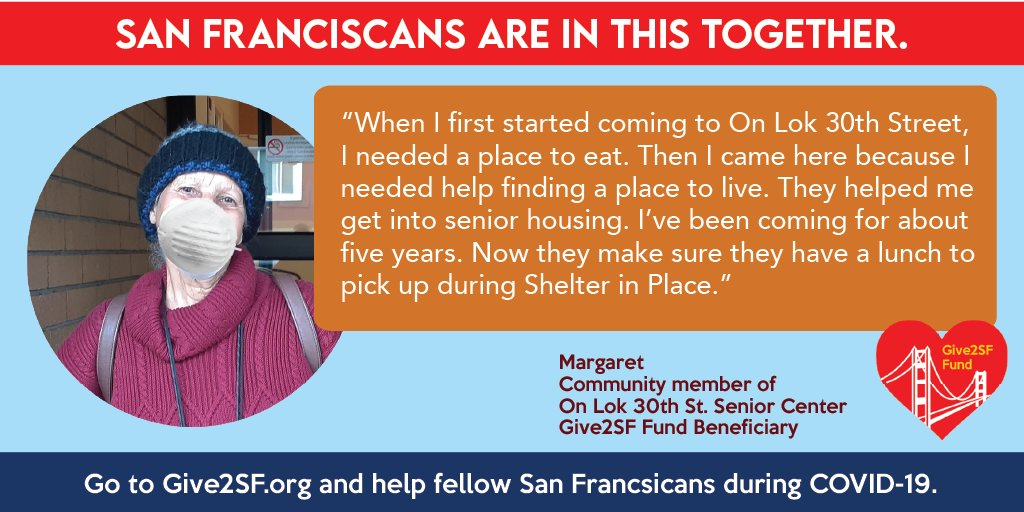 Margaret is a senior at On Lok, Give2SF funds help make sure she has hot lunches.