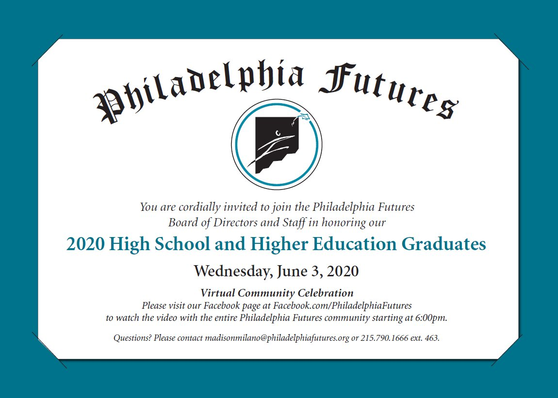 We can't wait to celebrate our community of scholars and supporters! #PFGraduationCelebration2020 #PFProud