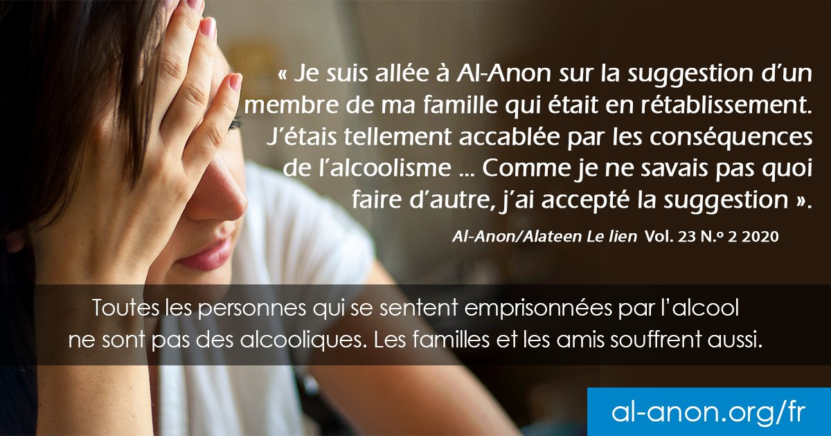 Si vous êtes préoccupé par la consommation d'alcool d'une autre personne, il se peut qu'Al-Anon puisse vous aider. Pour en savoir plus, visitez    #AlAnon #rétablissement #alcoolisme #support #réunion #problèmes #alcool #famille