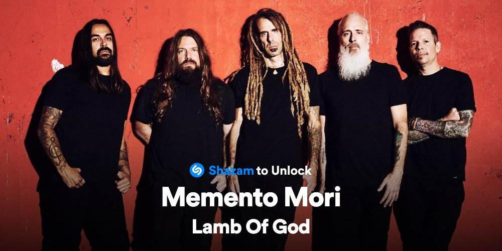 Shazam #MementoMori by @lambofgod to unlock an official teaser for their next single, premiering this Friday.