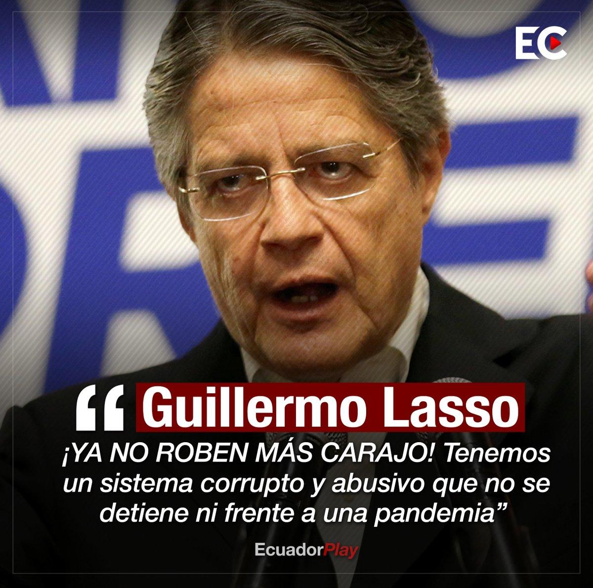 """""""¡YA NO ROBEN MÁS CARAJO!"""", el banquero y accionista del @BancoGuayaquil, @LassoGuillermo, pidió a los políticos que ya dejen de robar, además los acusó de desproporciones y abusos de poder. ⬇️ https://t.co/57hmCZZi5P"""