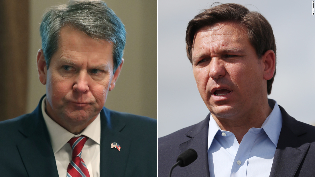 Gov. Brian Kemp of Georgia and Gov. Ron DeSantis of Florida both offer to host this years Republican convention as President Trump threatens to pull it from North Carolina cnn.it/2M27Mb2