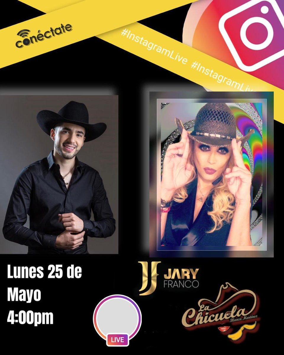 Lunes a las 4pm live en mi instagram con @Jaryoficial https://t.co/mibfCCNkRo