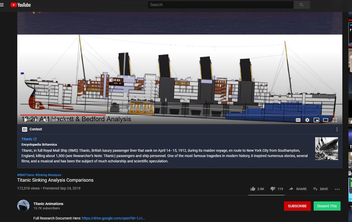 """So #YouTube is adding """"context"""" from approved sources to its videos now? On one about Titanic none the less. Which, IDK how that could be remotely considered a """"controversial"""" subject. pic.twitter.com/d2cfD2X2h8"""