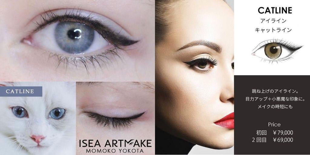 \ ISEA ARTMAKE /  アイラインのご紹介です💁🏻♀️  キャットライン(ハネ上げ)でのデザインで  ✔︎目の角度が上がり活気のあるスタイリッシュな印象 ✔︎左右の形を合わせ、目尻にかけてボリュームを出すことで、切れ長の目の形に  ▼ アートメイク公式Instagram https://t.co/uJIDg4j9yS  #美容外科 https://t.co/4o4eQQTASo
