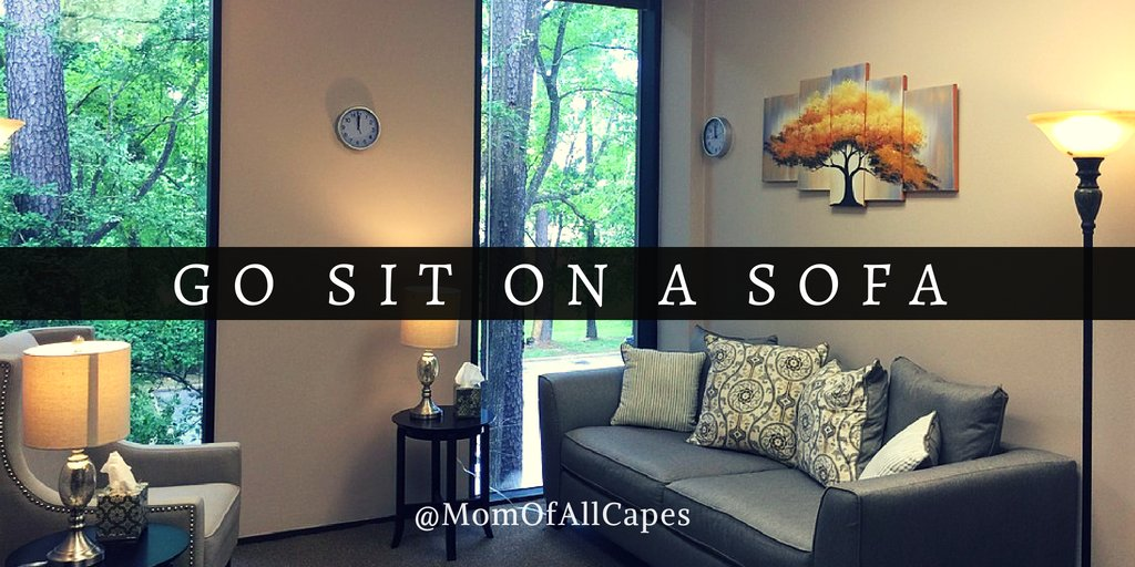 May is #MentalHealthAwarenessMonth If you're experiencing even the slightest amount of fear, stress, or self-doubt, sometimes it's best to talk with someone other than a close friend. momofallcapes.com/blog/go-sit-on… #mentalhealth