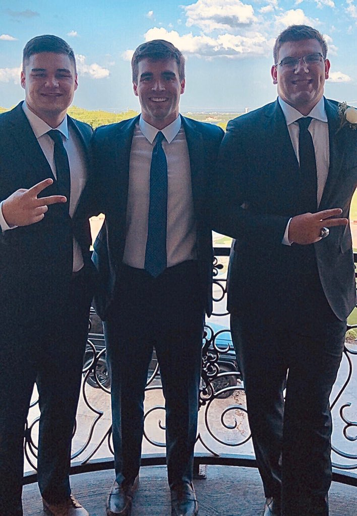 Seniors Jake Baumert, Jack Sides and Jaxson Deaton were commissioned at Deatons wedding Saturday #ArmyFootball