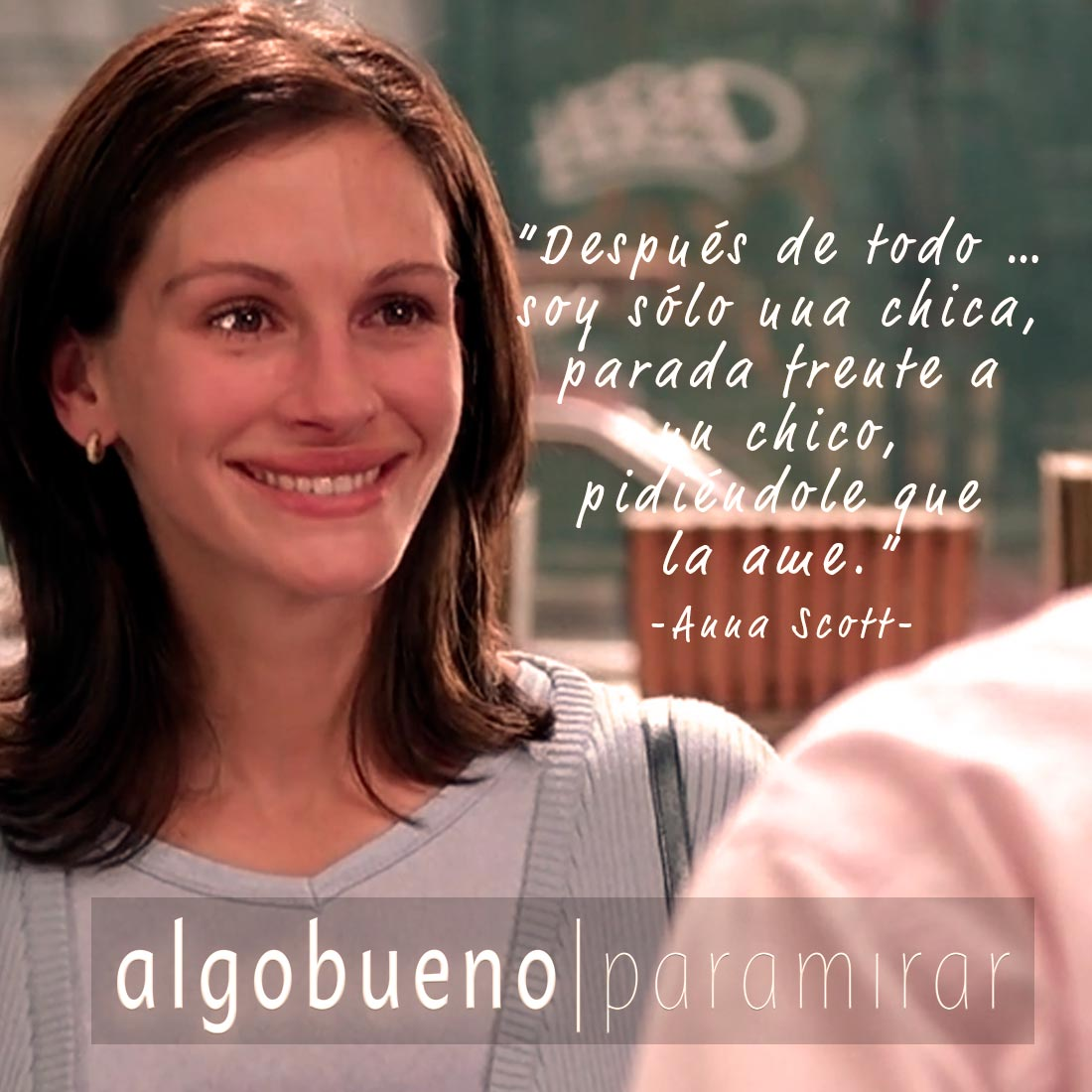 """Notting Hill (1999) Frase original: """"After all ... I'm just a girl, standing in front of a boy, asking him to love her."""" - Anna Scott - #OnlyFans #frases pic.twitter.com/PgKamhxfoI"""