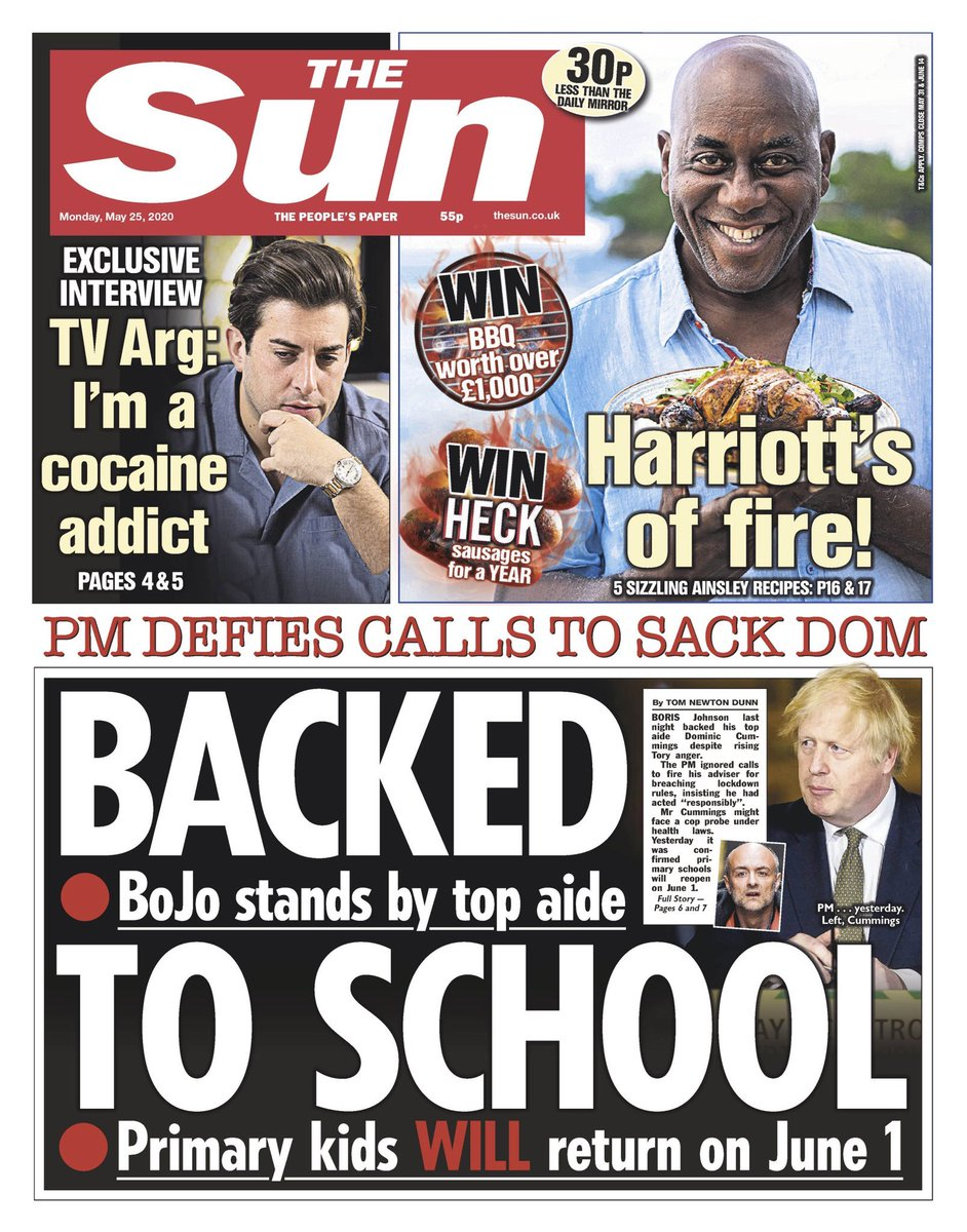 As is quite often the case, an interesting contrast between the front pages of The Sun in England and Scotland #TomorrowsPapersTodaypic.twitter.com/q7vpBOMjVq
