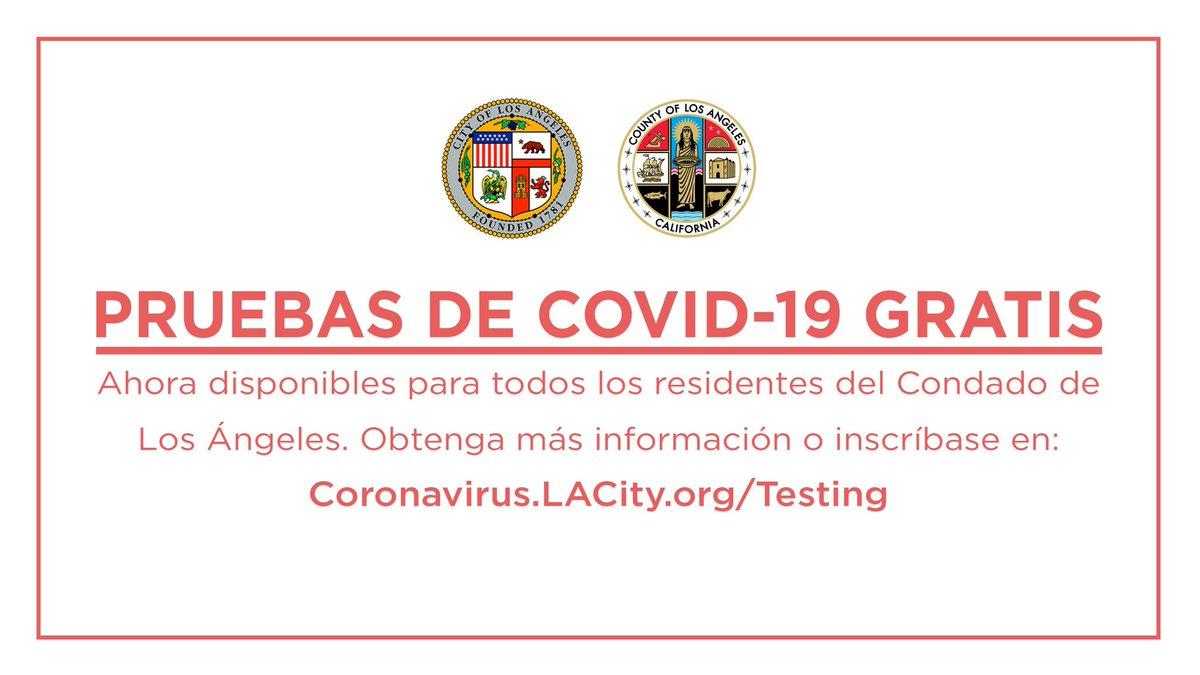 El acceso a las pruebas de COVID-19 es esencial para detener la propagación de este virus mortal.   Estamos abriendo un nuevo sitio de pruebas en el Dodger Stadium para ofrecer aún más pruebas gratis.   No tiene que tener síntomas para hacerse una prueba: http://Coronavirus.LACity.org/Testing.pic.twitter.com/UqMg9LO86R