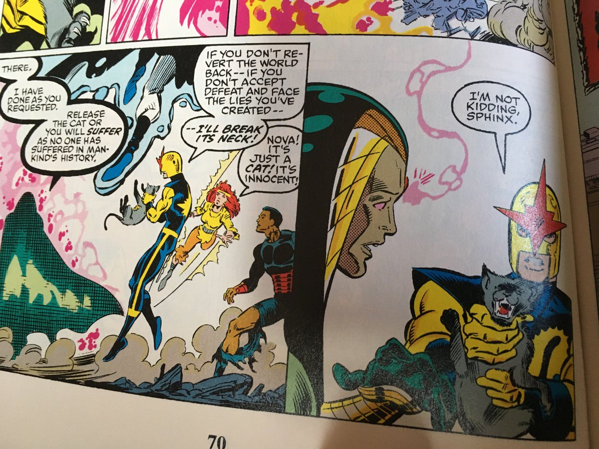 @ttwasteland_ reading some old New Warriors I think Nova maybe played by Donna Troy this issue <br>http://pic.twitter.com/kjziKOXfEM