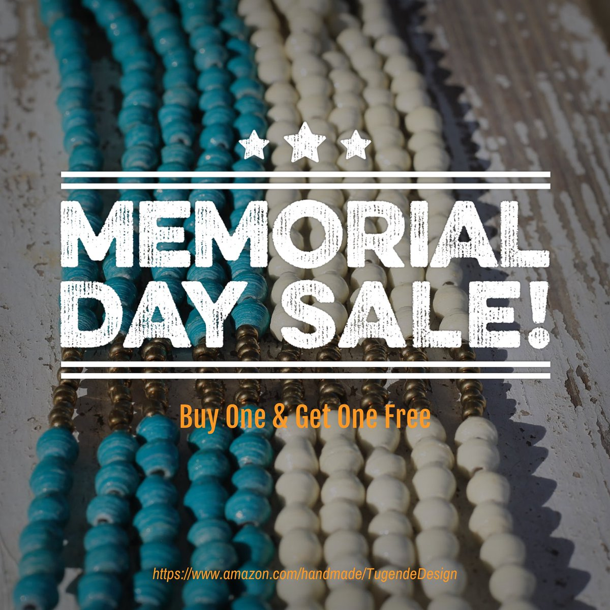 Our #bogo sale is on @amazonhandmade check it out  #sale #beadedjewelry #bling #MemorialDaySale #handmadejewelry #necklaces #paperbeads #socent #ecommerce #summerjewelry #affordablejewelry #socialenterprise #supersale #discount #shop #jewelryshop   https://www.amazon.com/handmade/TugendeDesign…pic.twitter.com/qKGpDeIPcn