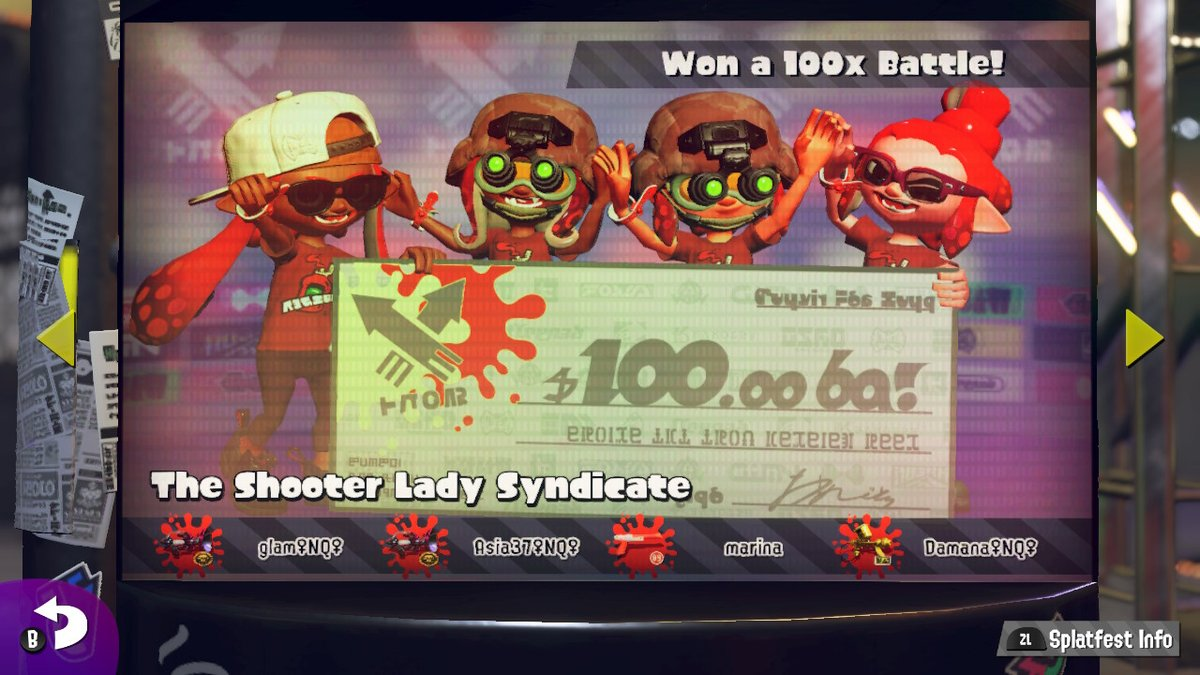 Replying to @Glam_NQ: 100x for #teamketchup with my Queens!!! @NintendoQueens #Splatoon2 #NintendoSwitch