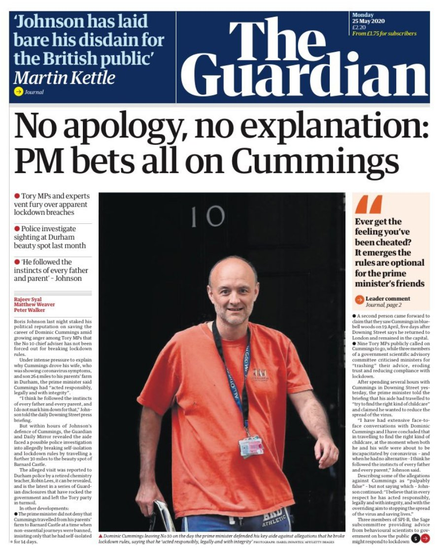 Wow! When the Guardian and the Mail agree on a political scandal, you really are in deep trouble.