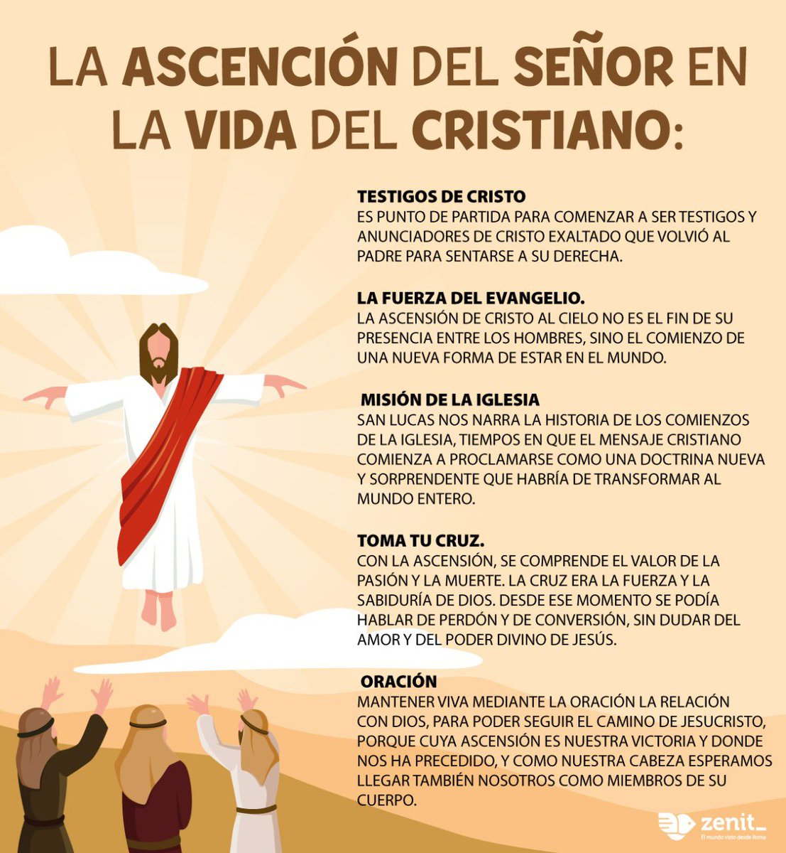 ¿Qué significa la #Ascención de #Jesus para la vida del #cristiano?  #ascensiondelsenor #ascensionday pic.twitter.com/RUM5EBwevK