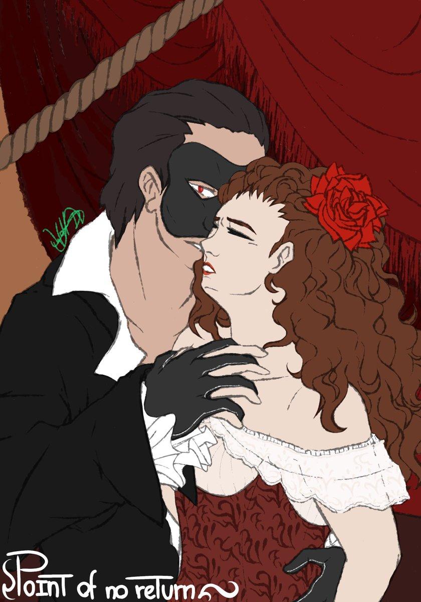 """Essa é minha outra contribuição para a collab dos musicais da Broadway! (Um pouco atrasado ^^"""") @ABaderneiros   Um dos meus preferidos é O Fantasma da Ópera e a cena de """"Point of no Return"""" me faz arrepiar muito~ Espero que gostem!   <-->  Me ajuda bastantepic.twitter.com/L8l0rEvnSW"""