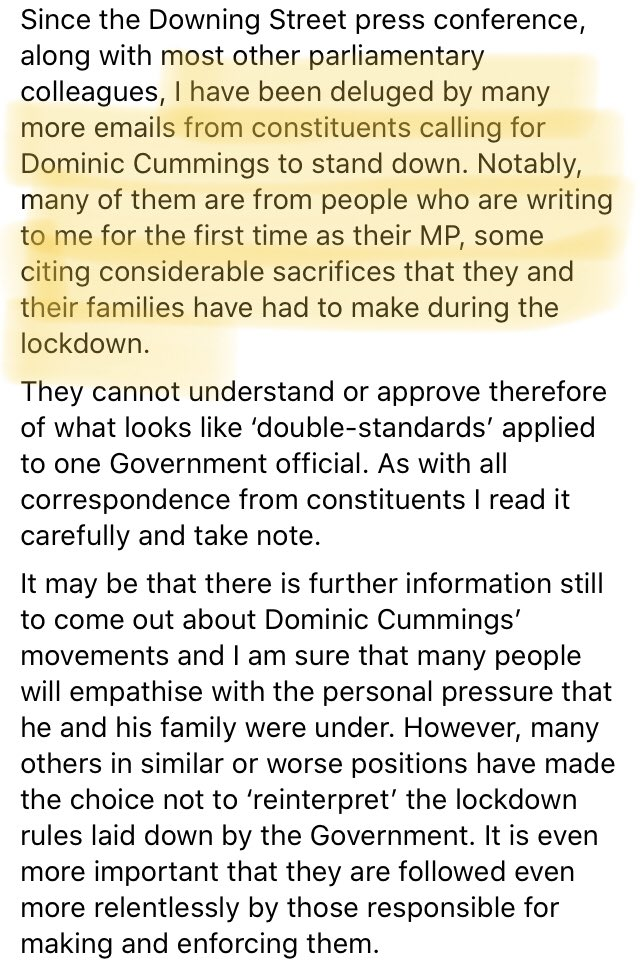 This is an indicative experience I suspect. @timloughton Tory MP, on why Cummings must go...heat in the inbox. And not from the usual remainer #brexit crowd. twitter.com/timloughton/st…