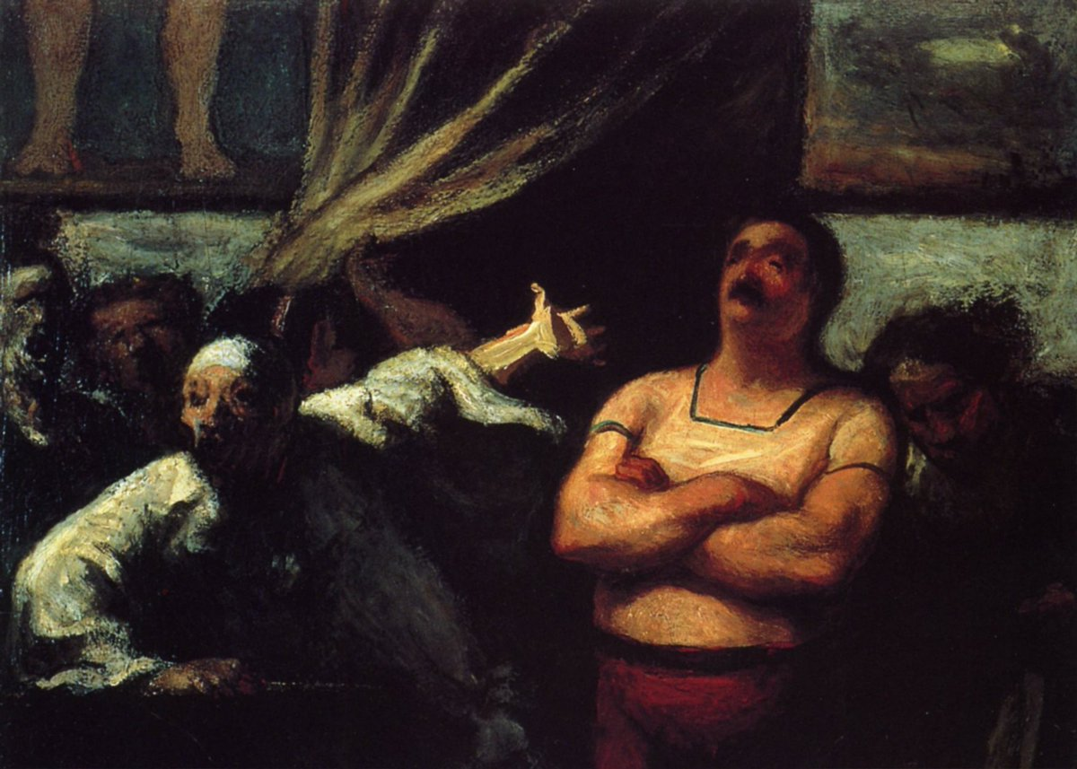 Barker at a fair booth  https://www. wikiart.org/en/honore-daum ier/barker-at-a-fair-booth  …  #honoredaumier #daumier<br>http://pic.twitter.com/rkNHrRKZPG