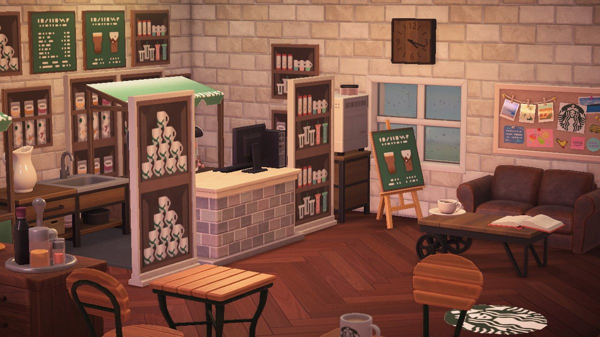 A friend made a Starbucks on her island, and it is perfection  #AnimalCrossing #ACNH #Starbucks pic.twitter.com/ECvV7iv34i