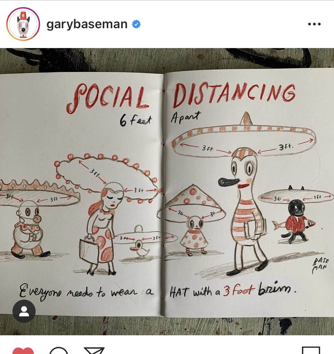 @nhassenfeld Gary Baseman has some pretty great (non song-related) social distancing art, too.