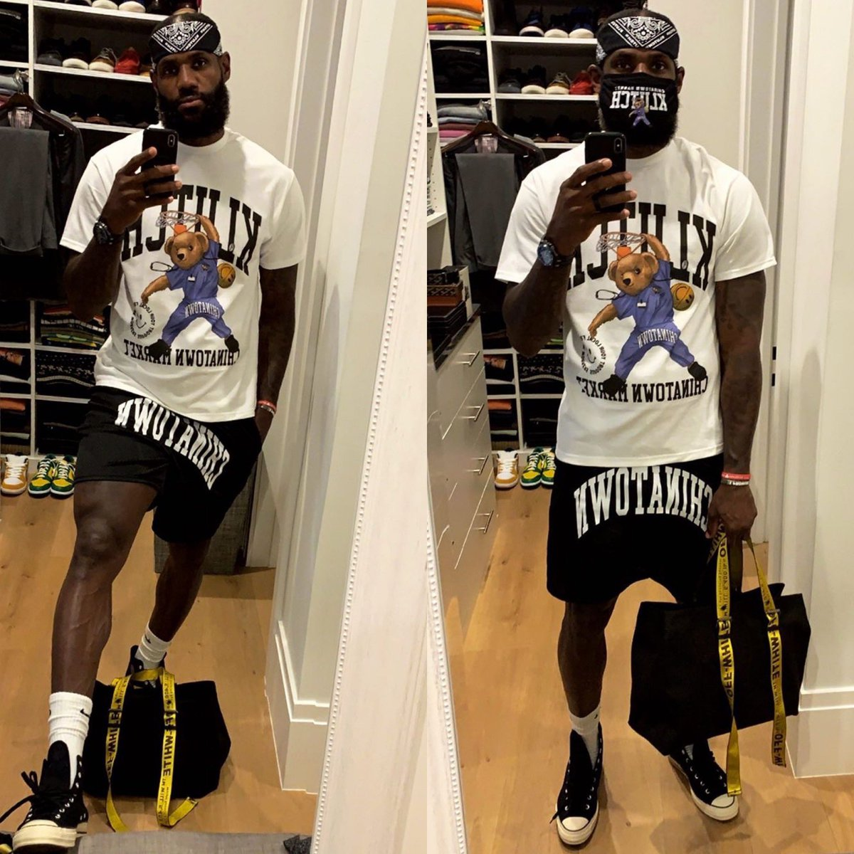 Rate the fit from LeBron today<br>http://pic.twitter.com/ZKHShgpwn5