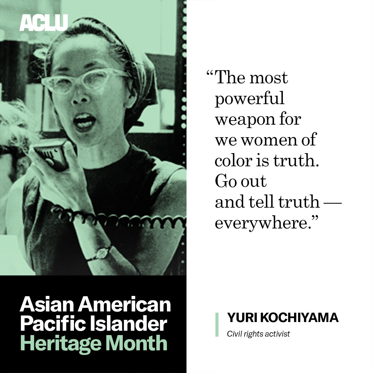 Happy #AsianPacificAmericanHeritageMonth to Yuri Kochiyama and all of our civil rights elders!