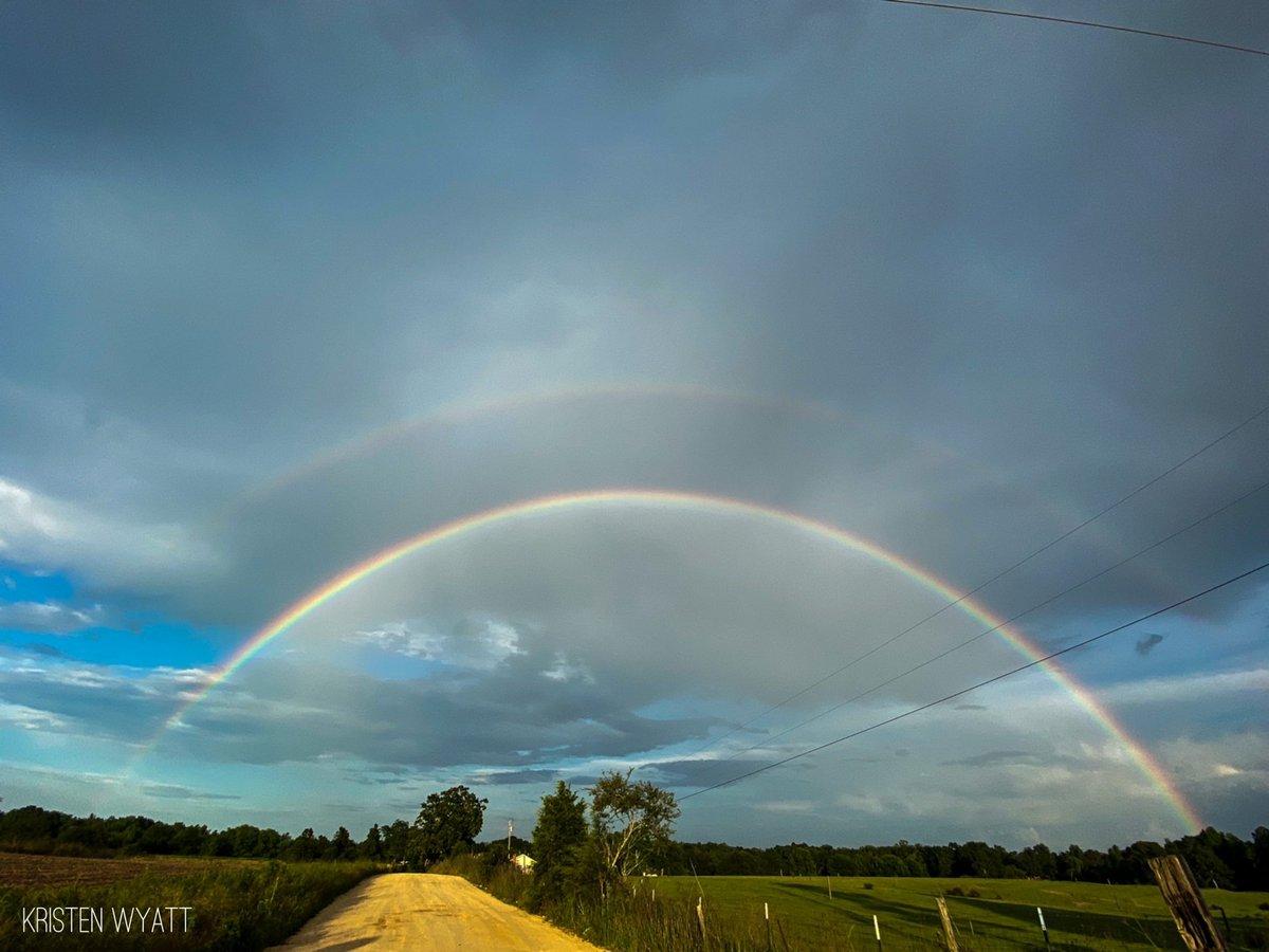 Gorgeous double rainbow in Clanton! @spann