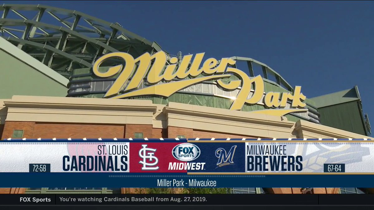 Flash back to the #STLCards' matchup with the Brewers from Aug. 27 of last year. It's on FSMW and FSGO right now.