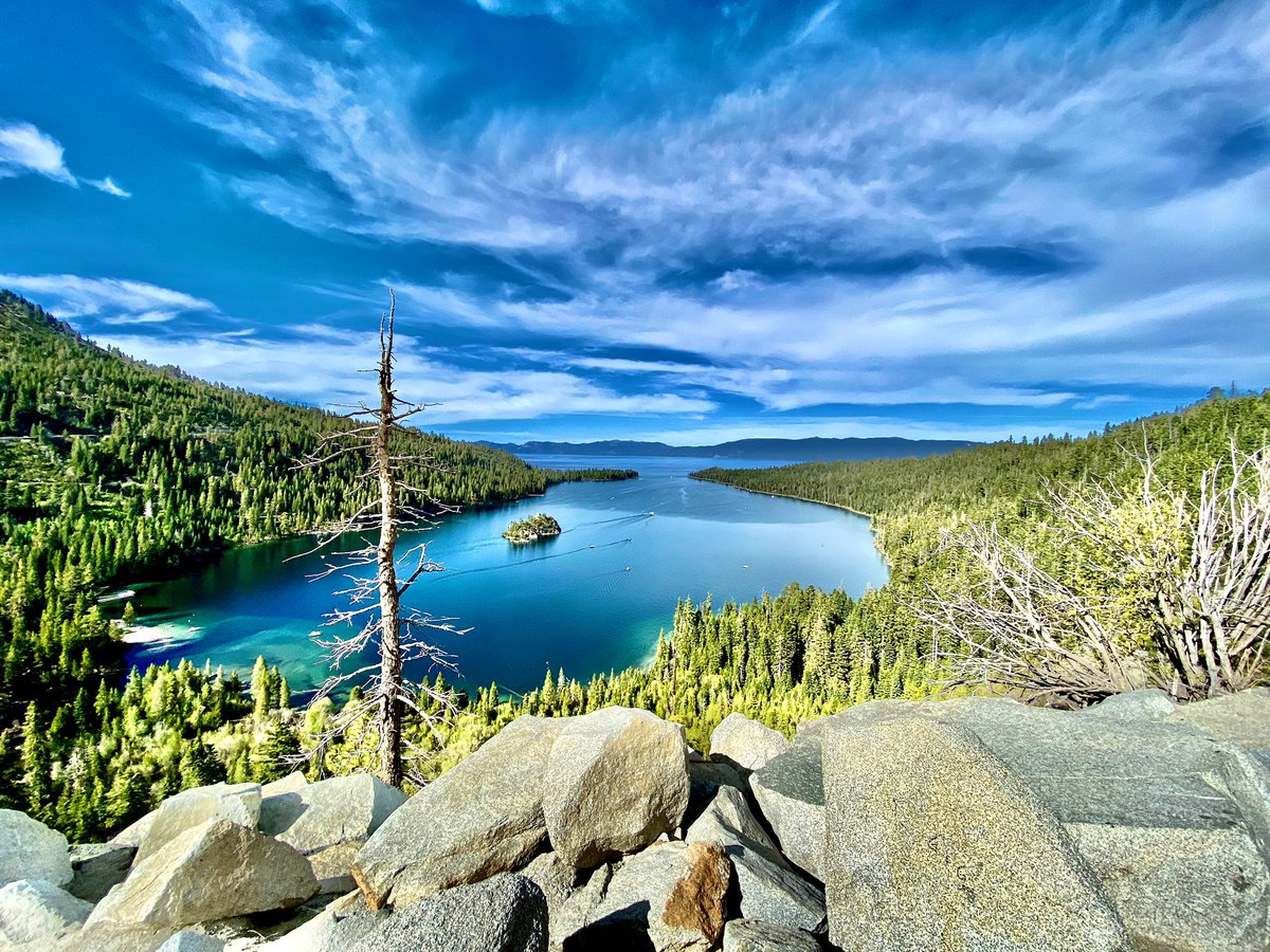 To breathe the same air as the angels, you must go to Tahoe. ~ Mark Twain    taken by me at Emerald Bay    #naturephotography #naturelovers #laketahoepic.twitter.com/TX3vZ6Axst