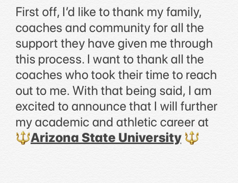🔱We All In🔱 #ForksUp @ASUFootball