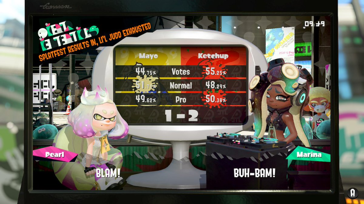 The bonus one-off #Splatoon2 #Splatfest is a wrap, and the winner is #TeamKetchup! Congrats to our new sauce bosses, and a big thanks to everyone that joined in on the fun!