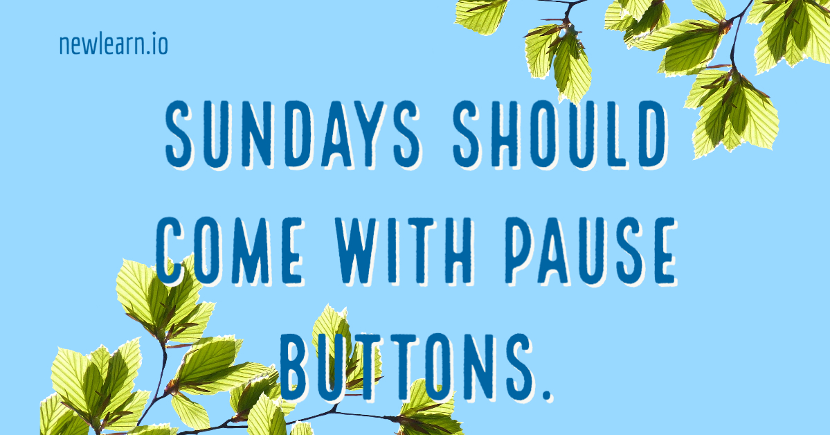 Sundays should come with pause buttons. Monday is coming already.. #newlearn #sunday #teacher #teachersonmonday #teachersunday #schoollife #teacherlife #teachers #teachershelpteachers #teachingresources #educationalresources #teachingmaterials #distanceeducation #remotteachingpic.twitter.com/FIx68JwZ6F