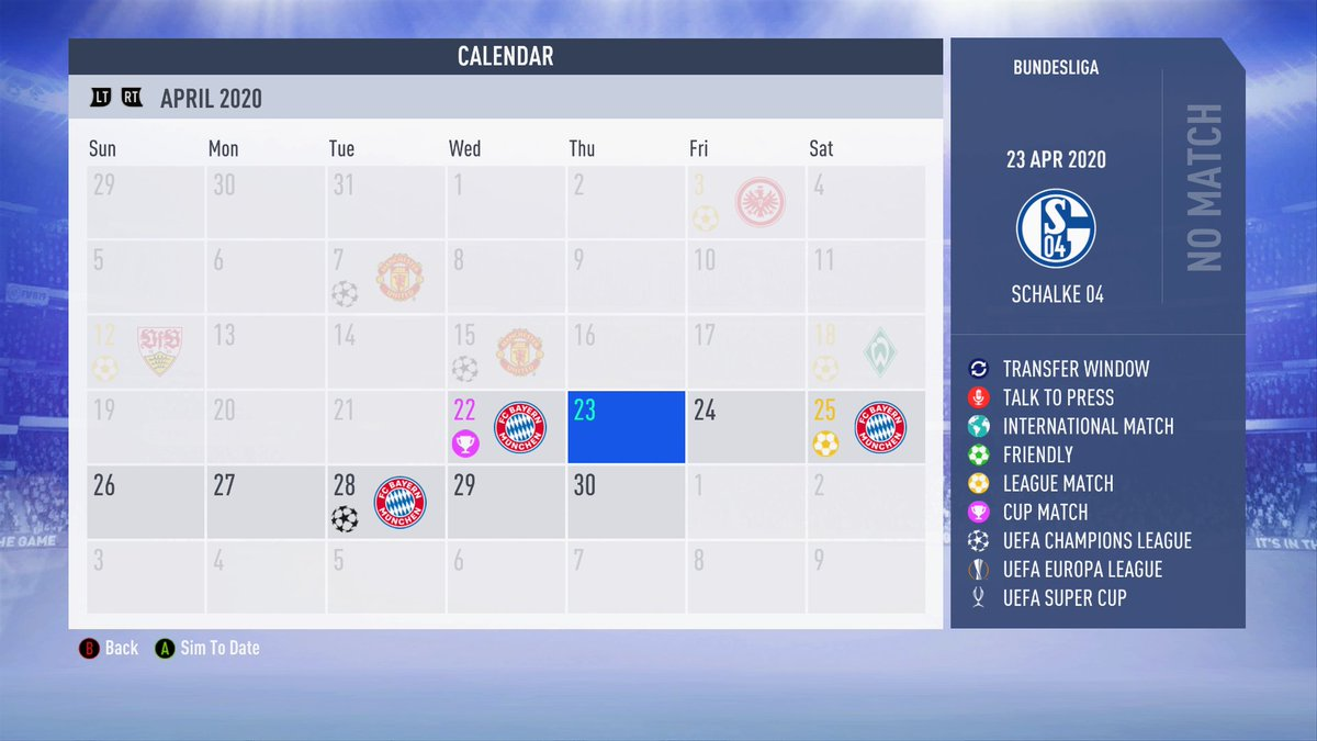 Now that's a schedule. #FIFA19 #XboxSharepic.twitter.com/lDj7TKIuh2